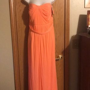 David's bridal size 20 coral sleeveless dress NWT